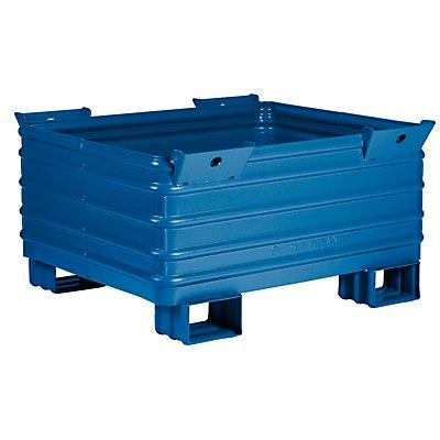 Heson Schwerlast-Stapelbehälter - BxL 1000 x 1200 mm, mit U-förmigen Füßen