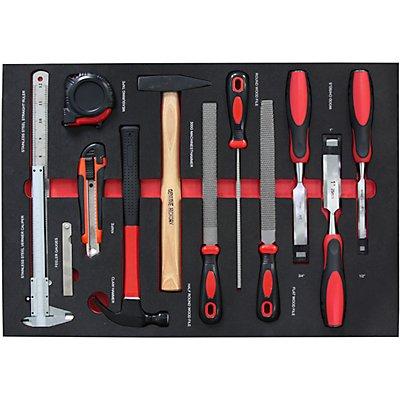 Werkzeug-Shadowboards - Universal-Werkzeug-Satz, für BxT 570 x 410 mm - 28-teilig