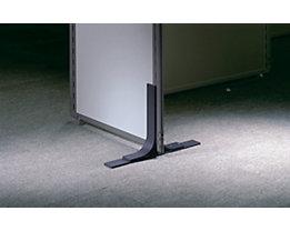 Metallfuß - für Akustik-Trennwand - Ausladung beidseitig je 225 mm