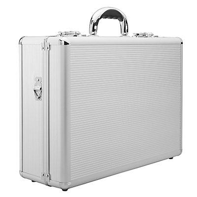 Moderatorenkoffer aus Aluminium, robust - HxBxT 170 x 470 x 340 mm - umfangreich gefüllt