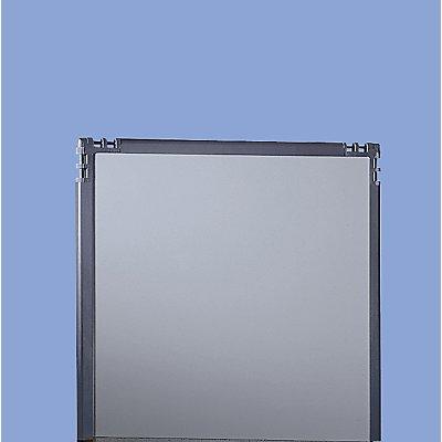 Kunststoff-Trennwand - Rahmen schiefergrau