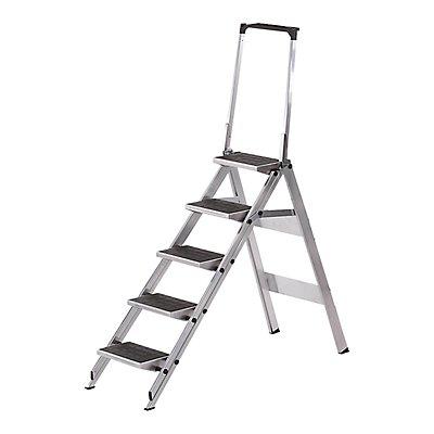 WAKÜ Alu-Klapptreppe - Stufen Alu mit PVC-Belag