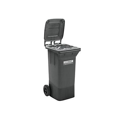 Conteneur à déchets en plastique conforme à la norme DIN EN 840 - capacité 120 l, h x l x p 933 x 482 x 552 mm