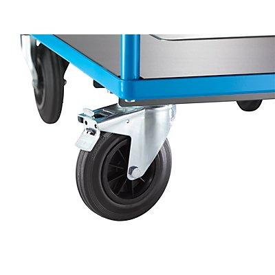 EUROKRAFT Premium-Plattformwagen - mit Waage, TxB 315 x 305 mm - Ladefläche TxB 1050 x 700 mm