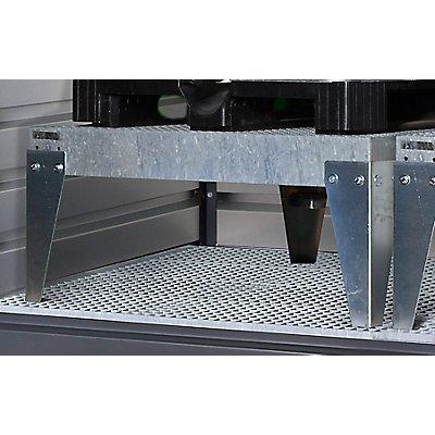 EUROKRAFT IBC-Abfüllaufsatz, passend für 1 IBC/KTC LxB 1320 x 1216 mm