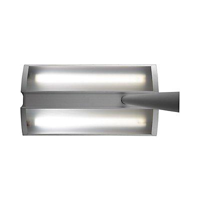 MAUL Standleuchte, Standfuß 280 x 420 mm - 2 x 55 W, 1250 lx, silber