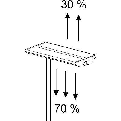 MAUL Standleuchte, Standfuß 280 x 420 mm - 2 x 55 W, 1670 lx, silber