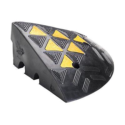 Abschlusselement für Bordsteinauffahrampen - TxBxH 360 x 360 x 100 mm - schwarz, Paar