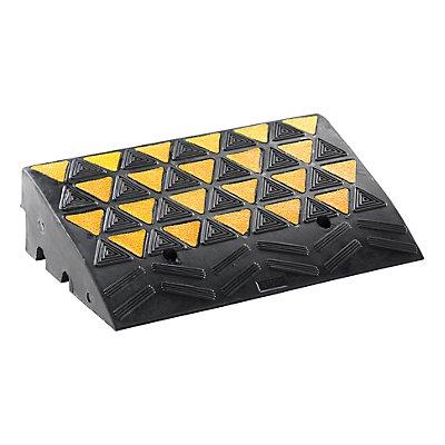 Bordstein-Auffahrrampe - TxBxH 600 x 300 x 100 mm - reflektierend