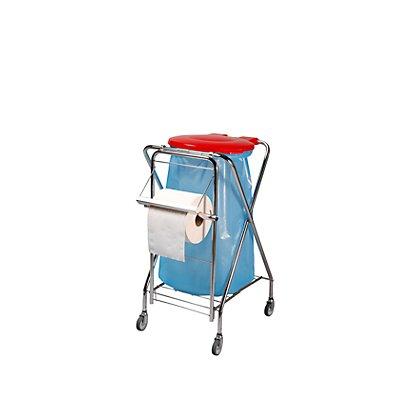 Hygiene-Abfallsammler, Halterrahmen rund rot, Höhe 1020 mm