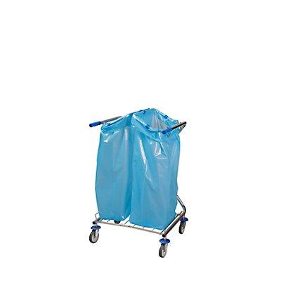 Hygiene-Abfallsammler DUO, LxBxH 670 x 600 x 1100 mm für 2 x 120 l
