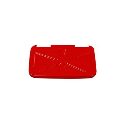 Deckel, quadratisch passend zu Abfallsammler rot