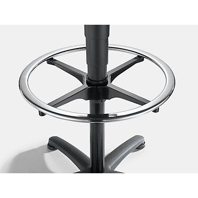 bimos Arbeitsdrehstuhl mit Handgriff - mit Bodengleitern und Fußring