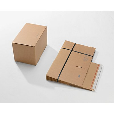 Versandkartons, mit Automatikboden und Selbstklebeverschluss