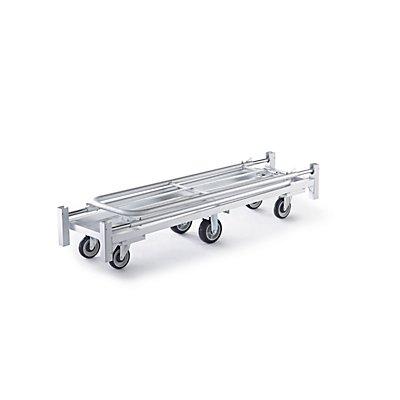 Rollbehälter, Aluminium - HxBxT 1530 x 1630 x 406 mm - faltbar