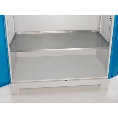 EUROKRAFT Fachboden, verzinkt, HxBxT 45 x 1167 x 550 mm Traglast 80 kg