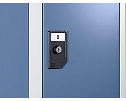 Wolf Foliennummerierung - integrierbar in Türschutzschild - VE 48 Stk