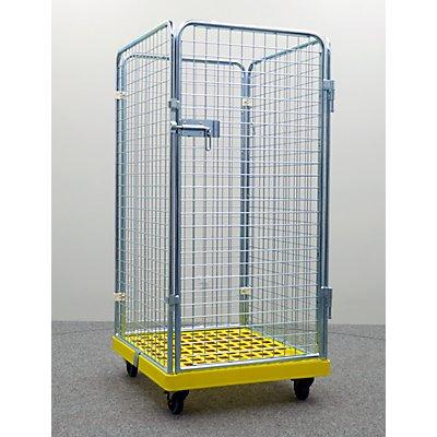 rollcontainer gelbe box 4 seitig alcatraz h he 1500 mm. Black Bedroom Furniture Sets. Home Design Ideas