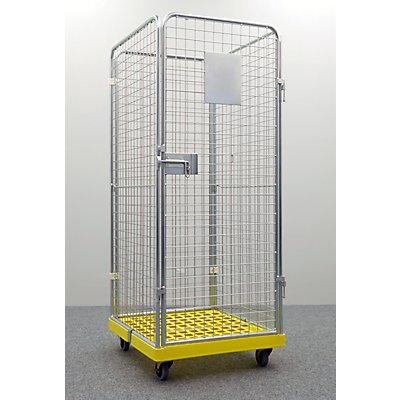 Rollcontainer GELBE BOX, 4-seitig