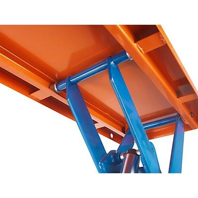 Hubplattformwagen, elektrisch, Hubbereich 485 – 1000 mm Tragfähigkeit 1000 kg