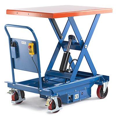 Hubplattformwagen, elektrisch, Hubbereich 430 – 1230 mm Tragfähigkeit 1000 kg