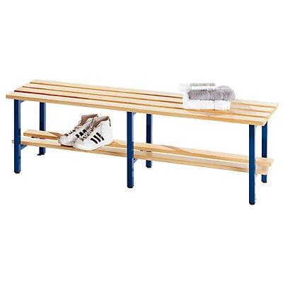 Melzer Metallbau Garderobenbank mit Holzleisten, ohne Lehne - mit Schuhrost, Länge 2000 mm