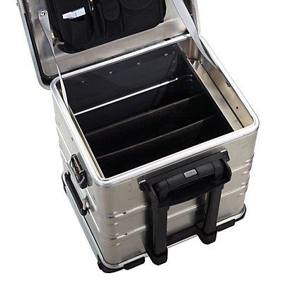 ZARGES Trennwand-Set - für Aluminium-Mobilbox Inhalt 50 l - mit Klettteilern