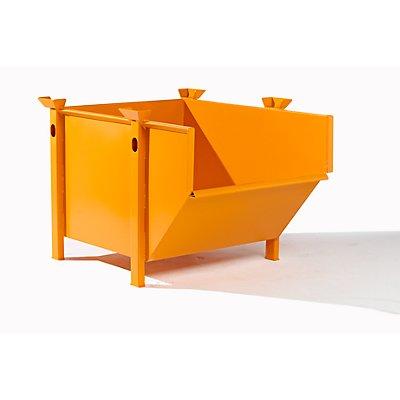 BAUER Stahlblechbehälter - Volumen 0,5 m³, ohne klappbare Schüttklappe