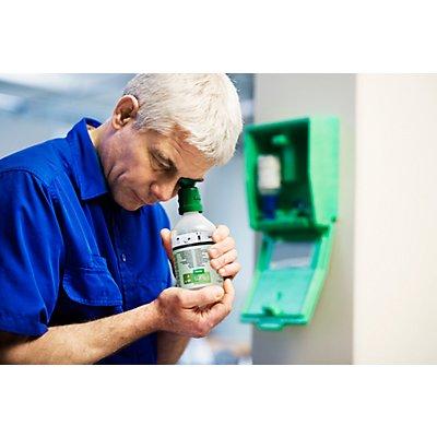 Notfall-Wandbox mit Augenspülflaschen - 2 x Kochsalzlösung - HxBxT 270 x 225 x 110 mm