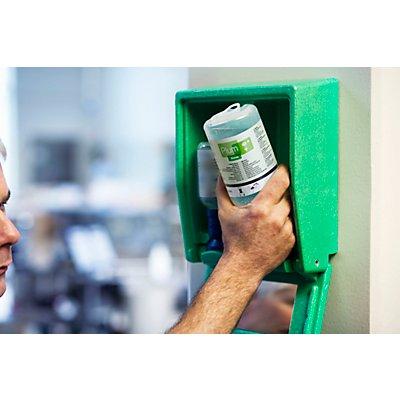 Coffre d'urgence mural avec flacons laveurs d'yeux - 2 x solution saline - h x l x p 270 x 225 x 110 mm