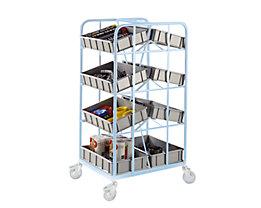 Kunststoff-Stapelkasten - Inhalt 20 l, Außenhöhe 120 mm - grau