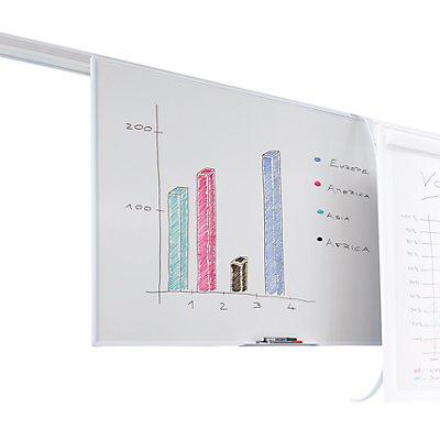 Smit Visual Magnettafel für Doppel-Schienensystem - Höhe 900 mm