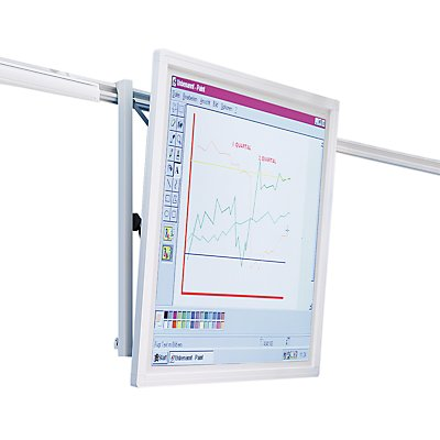 Projektionswand - für Doppel-Schienensystem