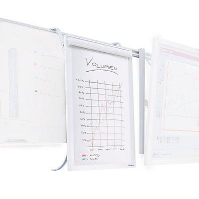 Smit Visual Flipchart - für Doppel-Schienensystem - HxB 1000 x 700 mm