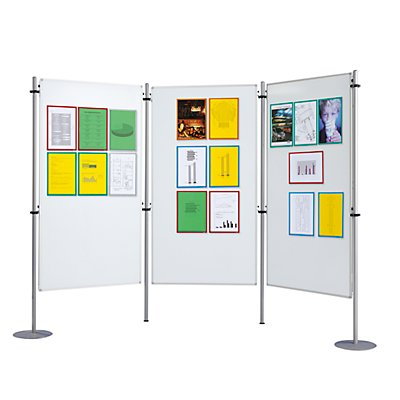 QUIPO Weißwandtafel - dreiteilig - 3 Tafeln je BxT 800 x 1500 mm