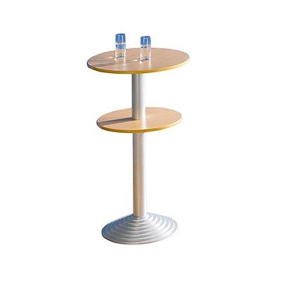 Sodematub Bistrotisch mit Gusseisenfuß - 2 Tischplatten, Abstand 30 cm