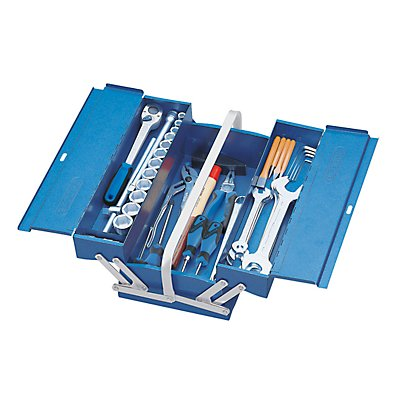 GEDORE Caisse à outils - avec 3 compartiments - articulations rivetées