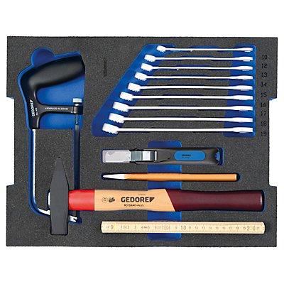 GEDORE Werkzeugkoffer für Handwerker - aus schlag- und stoßfestem ABS Kunststoff - 23-teilig