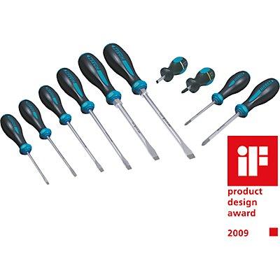 HAZET Schraubendrehersatz - 10-teilig - 3-Komponenten-Griff