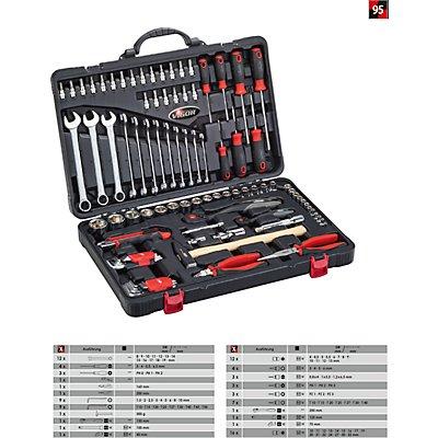 VIGOR Universal-Werkzeugkoffer - 95-teilig - schwarz