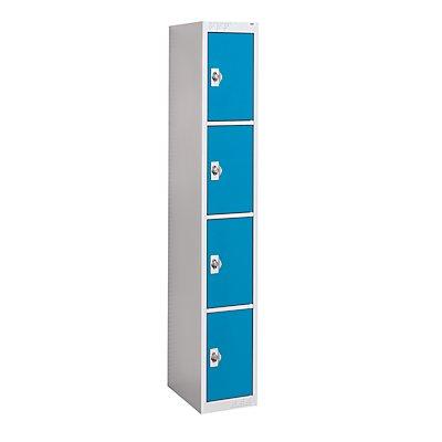 QUIPO Stahlspind, für Vorhängeschloss - 4 Fächer, Breite 300 mm