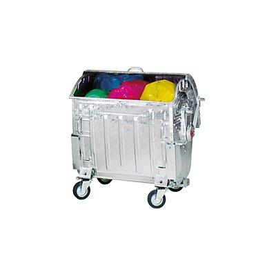 Müllgroßbehälter, verzinkt - Volumen 1100 l