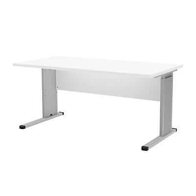 Wellemöbel BASIC-II Schreibtisch mit C-Fuß-Gestell - Breite 1600 mm, höhenverstellbar