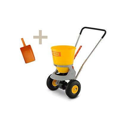 CEMO Streuwagen mit Handschaufel, für kleine und mittlere Streuflächen