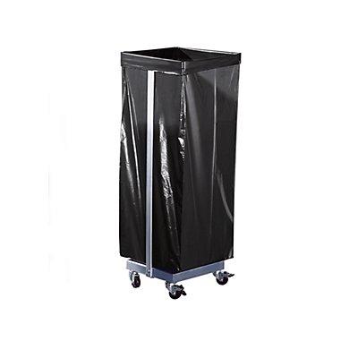 Support sacs-poubelle - pour 1 sac de 120 l, mobile - h x l x p 985 x 370 x 330 mm