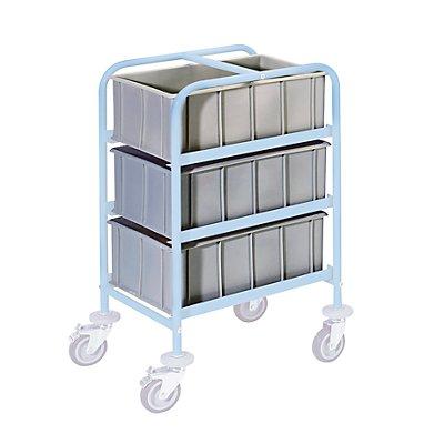 Kunststoff-Stapelkasten - Inhalt 42 l, Außenhöhe 230 mm - grau