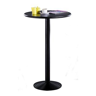 Bistro-Stehtisch mit Gussfuß - Höhe 1100 mm, Ø 700 mm - Tischplatte schwarz