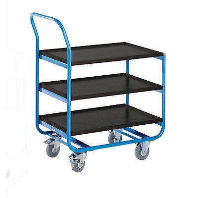 EUROKRAFT Tischwagen, Tragfähigkeit 150 kg - LxB 770 x 470 mm, MDF-Platte