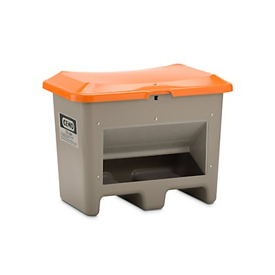 CEMO Streugutkasten aus GfK - Volumen 200 Liter, mit Entnahmeöffnung, unterfahrbar