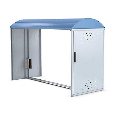 WSM Fahrradbox - Anbauelement mit Bogendach